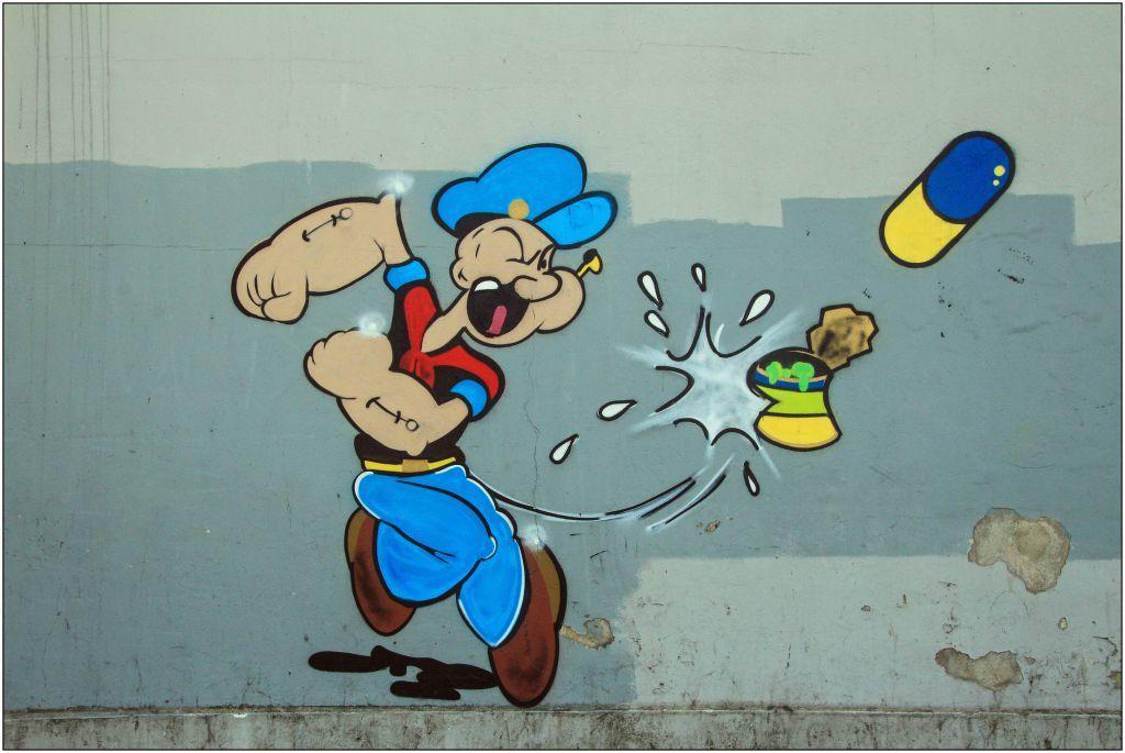 Popeye mit Dysbalancen