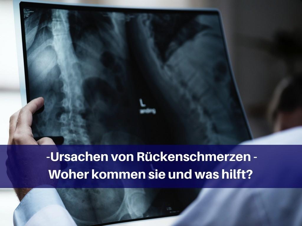 Ursachen von Rückenschmerzen